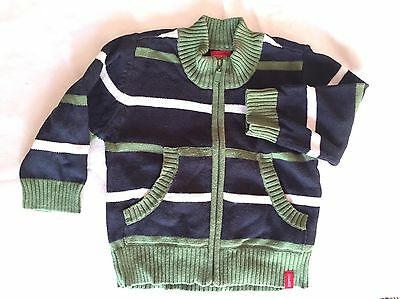 ESPRIT | Blue, White & Green Knitted Jacket | Up To 12 Months (size 0)