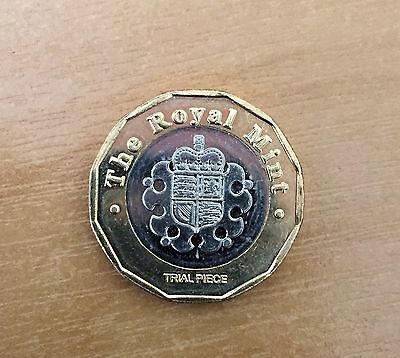 Rare Trial Piece Mint £1 New 2017 12 Sided Pound coin Dated 2015