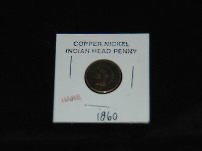 1860 Copper Nickel Indian Head Penny-Free Shipping