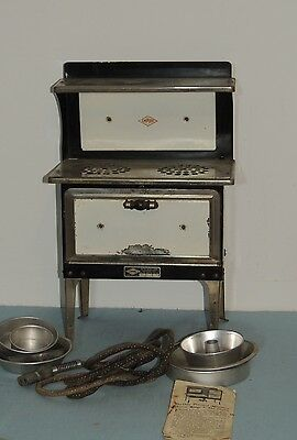 1930's Antique Childs Electric EMPIRE Oven w Pans