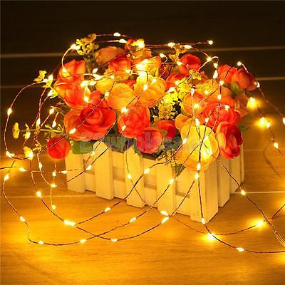 200 LED Solar Xmas Party Decor Outdoor Fairy String Lights Lamp Warm White