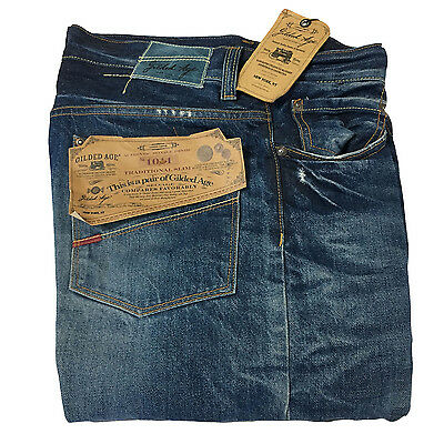 GILDED AGE men's jeans mod GA-1011-SUX 100% cotton MADE IN ITALY