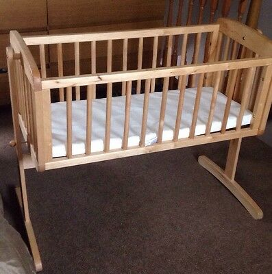 Mothercare Rocking crib With New Mattress