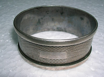 Antique English Sterling Silver Napkin Ring,no Monogram Free Shipping