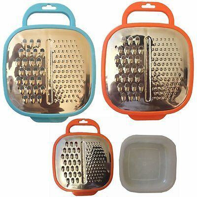 Kitchen Grater with Stainless Steel Grater Cheese and Vegetable Gartering Box