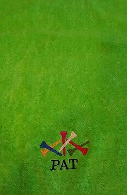 embroidered yellow best tri fold golf towel 3 cats free name