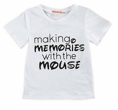 Making Memories with the Mouse Kids Unisex T-shirt Boys Girls Size 5T