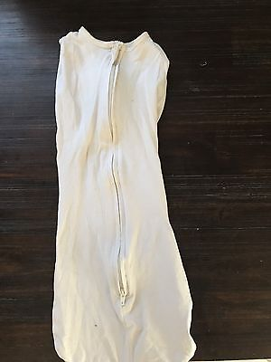 Baby Studio Swaddle Wrap Newborn 0-3 Months White EUC