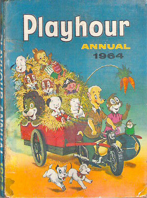 PLAYHOUR ANNUAL 1964 Sonny Sally Mimi Marmy Sooty Rare collectable rep'd spine G
