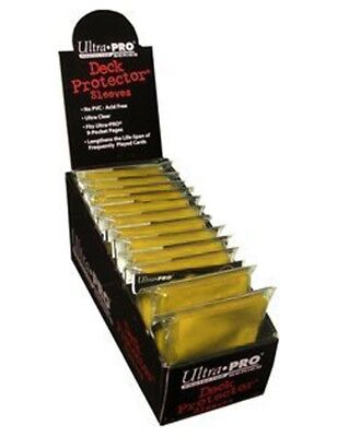 Ultra Pro Box of 12 Solid Yellow 50-Pack Standard Gaming Deck Protector Sleeves