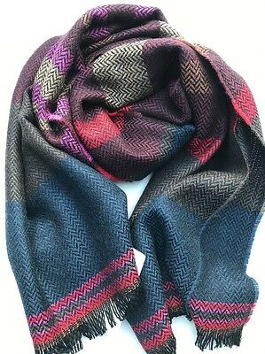 Paul Smith Men Scarf Made In Italy Striped City