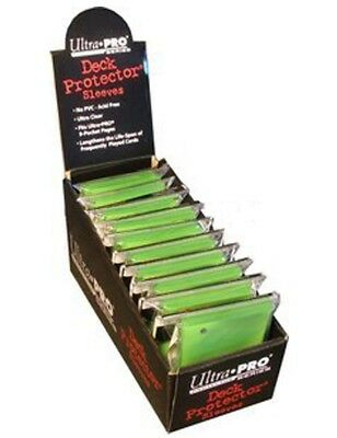 Ultra Pro Box of 12 Solid Light Green 50-Pack Gaming Deck Protector Sleeves