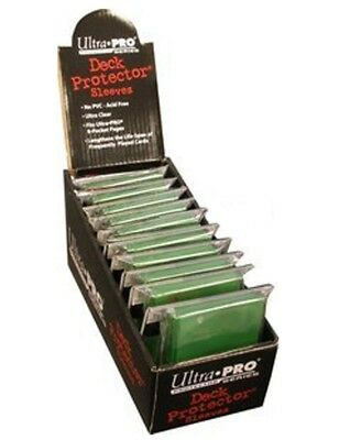 Ultra Pro Box of 12 Solid Green 50-Pack Standard Gaming Deck Protector Sleeves