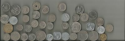 Lot Of 40 Foreign Coins (Receive All 40 Coins Pictured In This Scan) Unsearched