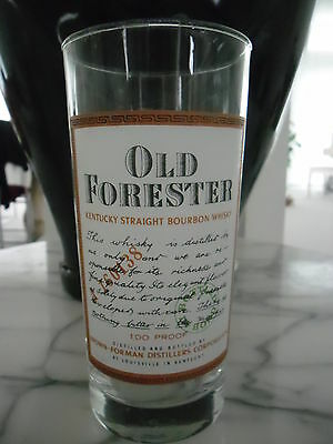 Old Forester Kentucky Straight Bourbon Whisky Glass