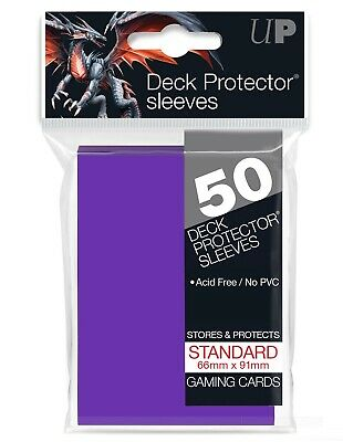 Ultra Pro Purple 50 Count Pack Standard Size Gaming Deck Protector Sleeves