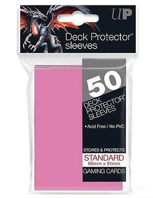 Ultra Pro Pink 50 Count Pack Standard Size Gaming Deck Protector Sleeves