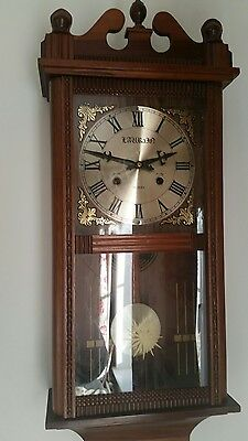 31 day chiming wall clock vintage with key