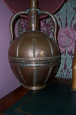 Arts and Crafts style copper lamp base