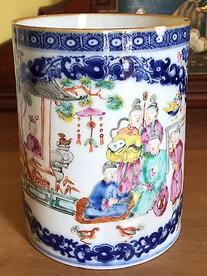 Rare Antique Chinese Export Porcelain Qianlong C18th Tankard