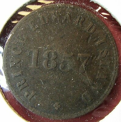 "Canada Prince Edward Island 1857 ""Government and Free Trade"" token"