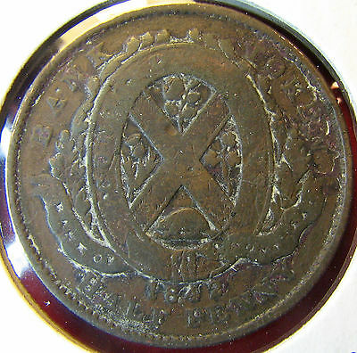 Canada Bank of Montreal half Penny 1842