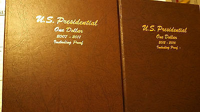 BU and Proof Presidential Dollar set 2007-P to 2016-S in two Dansco albums.