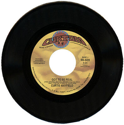 """CURTIS MAYFIELD  """"GOT TO BE REAL c/w ON AND ON""""  90's SOUL  LISTEN!"""