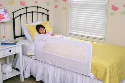 Long Safety Bed Rail Toddler Kids Swing Down Adjustable Twin Queen Bedrail Rails