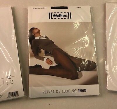 Wolford Velvet De Luxe 50 Tights Size Small New In Pkg