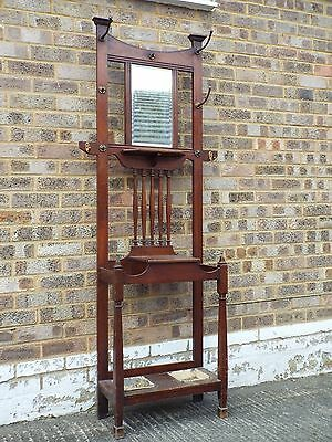Mahogany Shapland and Petter STYLE arts and crafts hallstand
