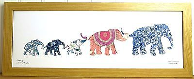 Liberty Of London Fabric 5 Elephant Family Picture #3351 Silhouette Art
