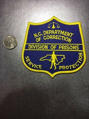 North Carolina Department Of Correction Prison Guard Police Patch NC