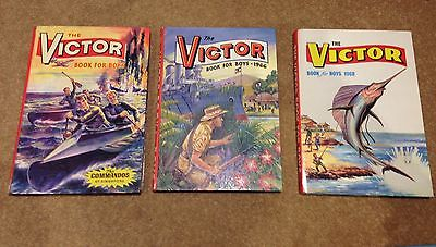 3 Copies Of The Victor Book For Boys 1964/66/68