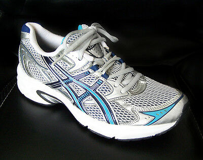 ASICS Women's size 8 Shoes $70 Running Sneakers 39.5 Gel Equation-4 Silver Blue