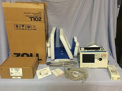 ZOLL M series Biphasic patient monitor with 3-lead ECG including accessories.