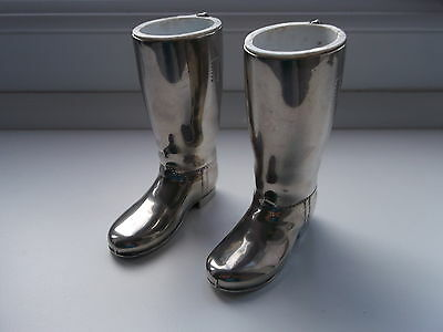 Vintage Pair of Silver Plated Drinks Measures - Riding Boots