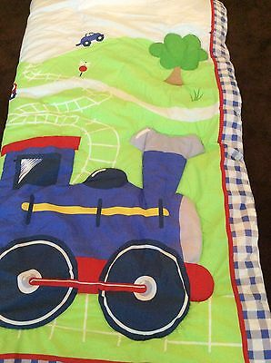 Baby/toddler Cot Quilt Trains