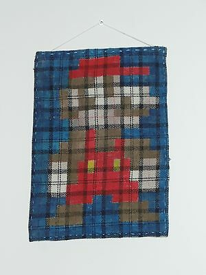 Super Mario Pixelated Burberry Textile Banner Hand Painted USA Nintendo Fan Art
