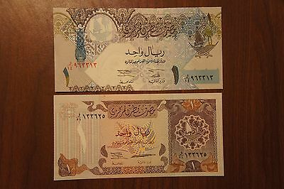 Qatar One Riyal P14a and One Riyal P20