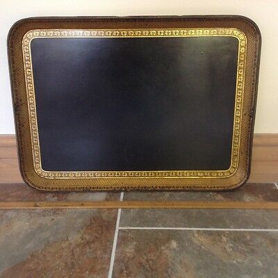 Victorian papier mache serving  or display tray