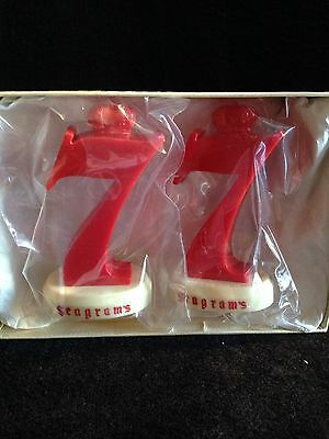 VINTAGE Seagram's 7 Salt and Pepper Shakers