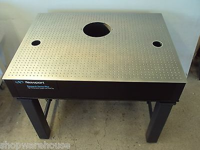 3' x 4' NEWPORT RESEARCH SERIES PLUS OPTICAL TABLE w/ KINETIC SYSTEMS BENCH, NRC