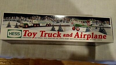 2002 Hess Truck And Airplane New In Box Real Head & Tail Lights