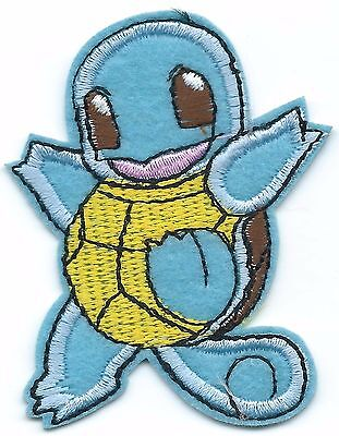 Squirtle Pokemon Embroidered Patch Iron-on Good Luck Art