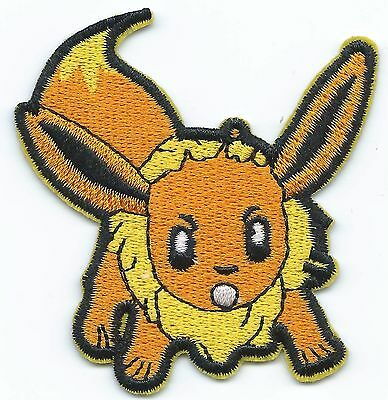 Eevee Pokemon Embroidered Patch Iron-on Good Luck Art