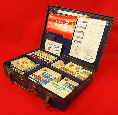 1960 Johnson & Johnson General First Aid Kit with Original Items