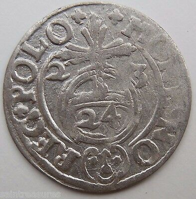 Medieval Hammered Silver Coin 1623 AD from Shipwreck Baltic Sea