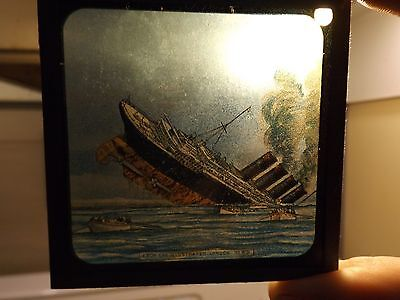1912 Titanic Magic Lantern Slide Of The Front Page Of The London News 1912 Rare!