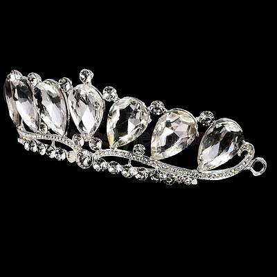 MagiDeal Crystal Water Drop Headdress Headband Wedding Bridal Crown Tiara